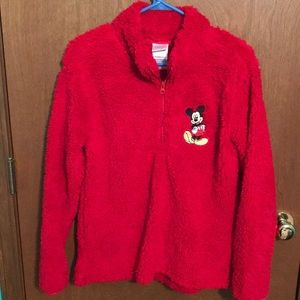 Disney Mickey Mouse fleece red quarter zip